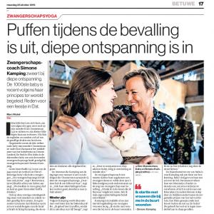 Artikel Gelderlander 1000ste babyfeest editie Betuwe